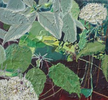 Hydrangea, Sea Holly and Cornus