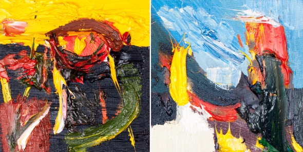 Flame Diptych