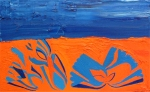 Composition in Blue and Orange