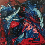 Composition in Red, Blue and White, 2016
