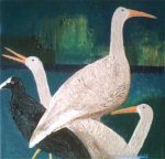 Geese and a Coot, 2011