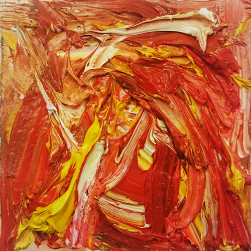 Composition in Red, Yellow and White