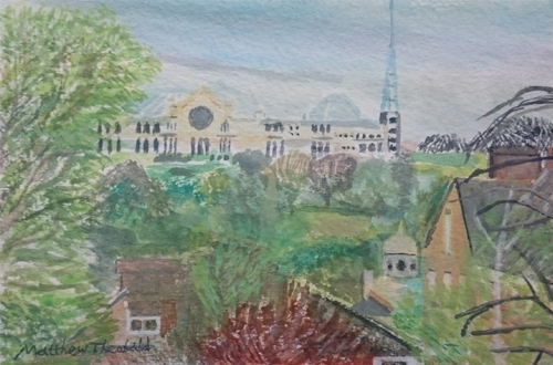Alexandra Palace, Viewed from Crouch Hill