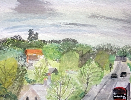 Highgate, Viewed from Archway Bridge