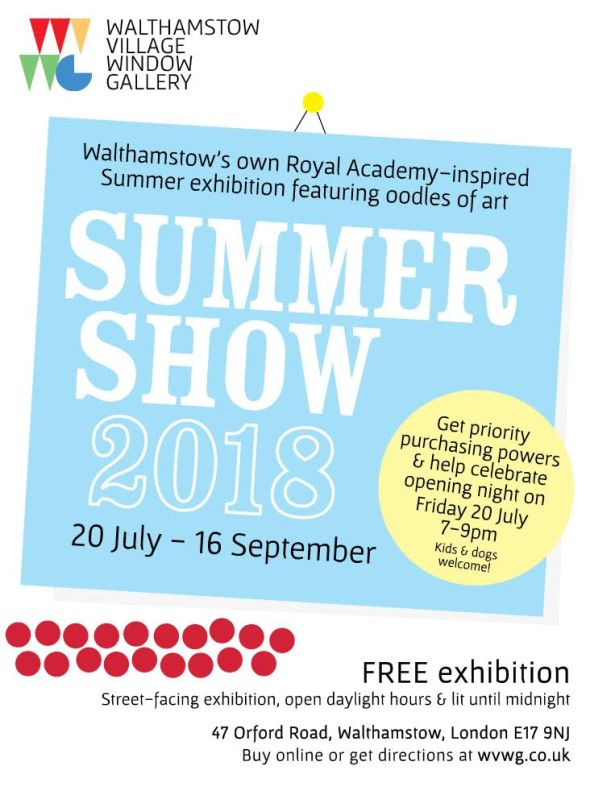 Walthamstow Village Window Gallery, Summer Show, 2018