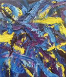 Composition in Yellow, Blue and Purple, 2019