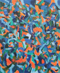 Composition in Blue, Green and Orange, 2019
